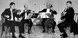 The Juilliard String Quartet - resident string quartet of the Library of Congress in 1963: Music Theory lessons Newburgh, Fife
