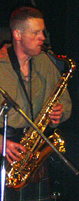 Dave playing tenor Sax: Saxophone lessons: Newburgh, Fife & Perthshire