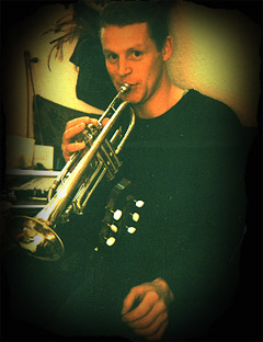 A rather younger Dave with Trumpet in 1998